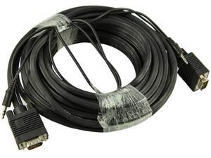 PREMIUM 50 FEET Cable N Wireless HD15 Male to Male SVGA VGA Video Monitor Cable