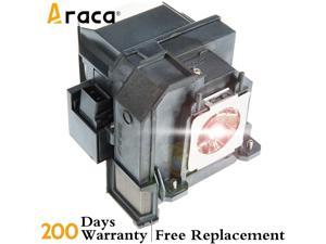 Araca ELPLP91 Projector Lamp with Housing for Epson BrightLink 695Wi EB-695Wi EB-685W EB-685WS 685Wi PowerLite 680 685W 685Wi EB-680 EB-680S Replacement Projector Lamp