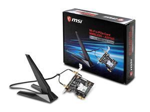 MSI AX905C Dual Band WiFi 6 (802.11ax 2x2) with Bluetooth 5 PCI-E x1 Card for Desktop Computer