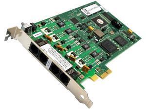 Dialogic - 310-935 (D4PCIUFEQ) - Dialogic® Analog D4PCIUFEQ PCI-e RoHS Version 4-port Analog, Loop-Start, PCI-e Card.