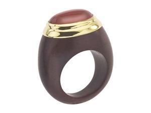 THE BRANCH 18K Vermeil, Rosewood & Carnelian Ring (7.5)