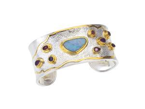 Michou Silver & Gold Vermeil Opal and Gemstone Cuff