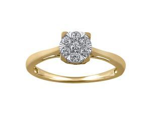 1/4CT Diamond Engagement Ring in 10K Yellow Gold
