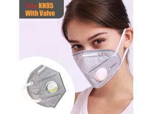 10pcs N95 Respirator Face Mask Anti Pollution Smoke Allergy Reusable KN95