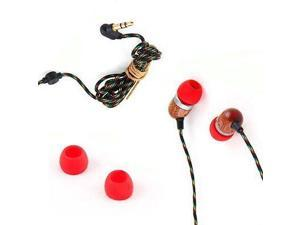 House Of Marley Smile Jamaica In-Ear Wired Headphones with Mic, Fire, EM-JE041-FI