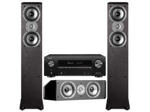 Polk + Denon Speakers And Receiver Bundle: TSi300 x2, CS10 and AVR-X1600H