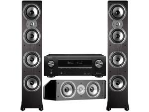 Polk + Denon Speakers And Receiver Bundle: TSi500 x2, CS10 and AVR-X1600H