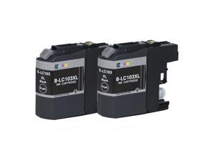 E-Z Ink ™ Compatible Ink Cartridge Replacement Set for Brother LC103 XL LC103BK High Yield (2 Black) DCP-J152W MFC-J245 J285DW J450DW J470DW J475DW J650DW J6520DW J6720DW J6920DW J870DW J875DW