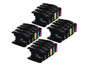 E-Z Ink ™ Compatible Ink Cartridge Replacement For Brother LC75 LC-75 LC-75XL High Yield (20) Pack (8 Black, 4 Cyan, 4 Magenta, 4 Yellow) LC75BK LC75C LC75M LC75Y