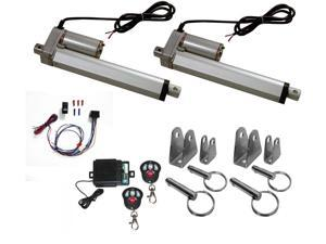"""2 Linear Actuator 14/"""" inch w// Angle /& Mounting Brackets Stroke 12V 200 Max Lift"""