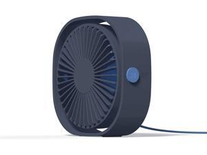 Esthepro USB Desk Fan, Portable Desktop Table Cooling Fan, Three Speeds Adjustable, USB Connection Power, Strong Quiet Wind, Great for Office Home Outdoor Car Travel (Navy Blue)