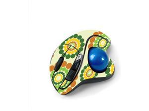 MightySkins Skin for Logitech M570 Wireless Trackball Mouse - Hippie Flowers   Protective, Durable, and Unique Vinyl Decal wrap Cover   Easy to Apply, Remove, and Change Styles   Made in The USA
