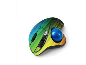 MightySkins Skin for Logitech M570 Wireless Trackball Mouse - Rainbow Streaks   Protective, Durable, and Unique Vinyl Decal wrap Cover   Easy to Apply, Remove, and Change Styles   Made in The USA