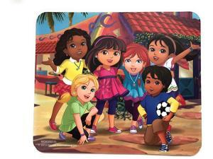 Dora The Explorer and Friends Optical Mouse & Mouse-Pad Set | Windows or MAC Compatible | Easy Plug-&-Play Instalation