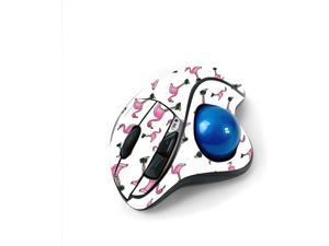 MightySkins Skin for Logitech M570 Wireless Trackball Mouse - Cool Flamingo   Protective, Durable, and Unique Vinyl Decal wrap Cover   Easy to Apply, Remove, and Change Styles   Made in The USA