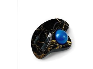 MightySkins Skin for Logitech M570 Wireless Trackball Mouse - Black Gold Marble   Protective, Durable, and Unique Vinyl Decal wrap Cover   Easy to Apply, Remove, and Change Styles   Made in The USA
