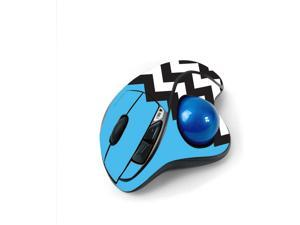 MightySkins Skin for Logitech M570 Wireless Trackball Mouse - Baby Blue Chevron   Protective, Durable, and Unique Vinyl Decal wrap Cover   Easy to Apply, Remove, and Change Styles   Made in The USA
