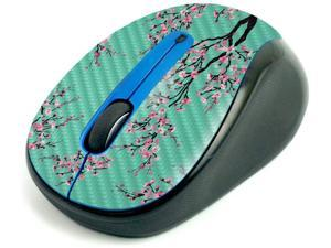 MightySkins Carbon Fiber Skin for Logitech M325 Wireless Mouse - Cherry Blossom Tree, Protective, Durable Textured Carbon Fiber Finish, Easy to Apply | Made in The USA