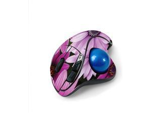 MightySkins Skin for Logitech M570 Wireless Trackball Mouse - Purple Flowers   Protective, Durable, and Unique Vinyl Decal wrap Cover   Easy to Apply, Remove, and Change Styles   Made in The USA