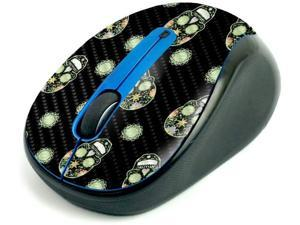 MightySkins Carbon Fiber Skin for Logitech M325 Wireless Mouse - Nighttime Skulls, Protective, Durable Textured Carbon Fiber Finish, Easy to Apply | Made in The USA