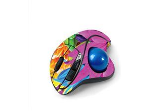 MightySkins Skin for Logitech M570 Wireless Trackball Mouse - Colorful Flowers   Protective, Durable, and Unique Vinyl Decal wrap Cover   Easy to Apply, Remove, and Change Styles   Made in The USA