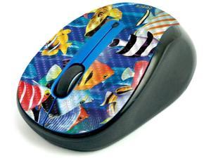 MightySkins Carbon Fiber Skin for Logitech M325 Wireless Mouse - Tropical Fish, Protective, Durable Textured Carbon Fiber Finish, Easy to Apply | Made in The USA (CF-LOGM510-Tropical Fish)