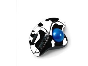 MightySkins Skin for Logitech M570 Wireless Trackball Mouse - Cow Print   Protective, Durable, and Unique Vinyl Decal wrap Cover   Easy to Apply, Remove, and Change Styles   Made in The USA