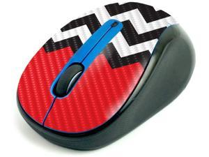 MightySkins Carbon Fiber Skin for Logitech M325 Wireless Mouse - Red Chevron, Protective, Durable Textured Carbon Fiber Finish, Easy to Apply | Made in The USA (CF-LOGM510-Red Chevron)