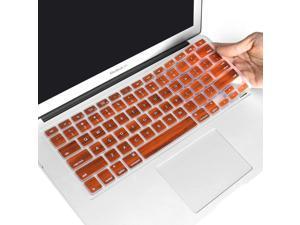 "Masino Silicone Keyboard Cover Ultra Thin Keyboard Skin for MacBook Air 13"" MacBook Pro with Retina Display 13"" 15"" 17"" (Wood Brown)"