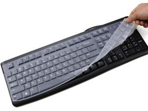 Clear Silicone Keyboard Cover Skin for Logitech MK120 K120, Ultra Thin PC Desktop Logitech Keyboard Protector, Logitech K120 MK120 Accessories