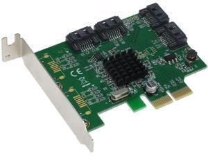 SEDNA - PCIe SATA 6G 4 Port Hybrid RAID Adapter Card with Low Profile Bracket