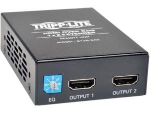 Tripp Lite 2-Port HDMI over Cat5/Cat6 Active Extender/Splitter, Remote Receiver for Video and Audio, 1080p @ 60 Hz, Up to 200-ft. (B126-2A0)
