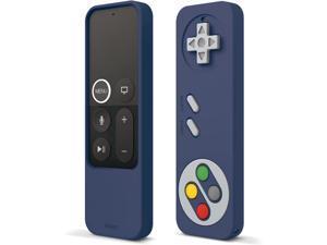 elago R4 Retro Apple TV Remote Case Compatible with Apple TV Siri Remote 1st Generation - Classic Controller Design [Non-Functional], Lanyard Included [US Patent Registered] (Jean Indigo)