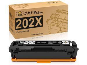 CMYBabee Compatible Toner Cartridges Replacement for HP 202X 202A CF500X for HP Laserjet Pro M281fdw M254dw M254dn M254nw M281dw, HP MFP M281fdn M281cdw M281 M254 Toner Printer (1-Black)