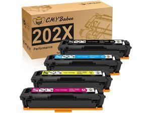 CMYBabee Compatible Toner Cartridges Replacement for HP 202X 202A CF500A CF500X for HP Laserjet Pro M281fdw M254dw M281cdw M281fdn M280nw (4 Packs)