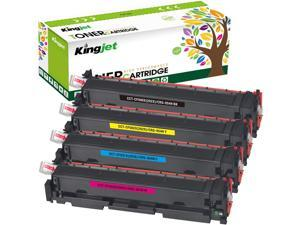 Kingjet Compatible Toner Cartridge Replacement for HP 202X CF500X 202A CF500A Work with Color Laserjet Pro MFP M281fdw M281dw M254dw M281cdw M280 printer, 4 Pack(Black Cyan Magenta Yellow, High Yield)