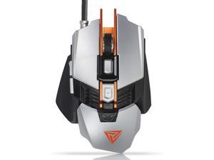 Saalising Mechanical Gaming Mouse 8 Programmable Macros 4000 DPI RGB Backlit Wired Optical Mouse Color : White