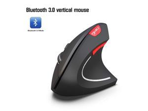 Vertical Ergonomic Optical Mouse Suitable for Home Office Laptop Gaming Mouse GXF-Yueyin Wireless Bluetooth Mouse Color : White