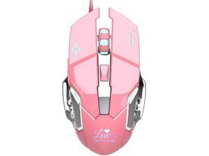 Color : Pink Wang5995 Office Home Mouse Pink Mechanical Gaming Keyboard 82 Key Blue Switch Luminous Wired Keyboard