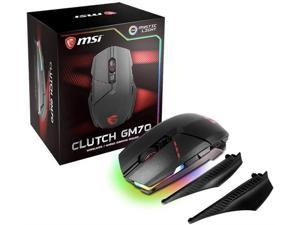 MSI Gaming Wired/Wireless USB RGB Adjustable DPI Programmable Gaming Grade Optical Mouse (Clutch GM70 Gaming Mouse)