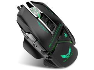 Black AcisuHu Gaming Mouse,1500DPI LED Optical USB Wired Gaming Mice for Computer Game Gamers
