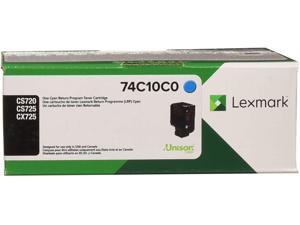 Lexmark 74C10C0 Unison Toner Cartridge, Cyan