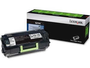 Lexmark 52D1H00 (LEX-521H) Toner, 25000 Page-Yield, Black