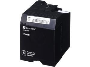 Lexmark High Yield Black Toner Cartridge, 20000 Yield (74C0H10)