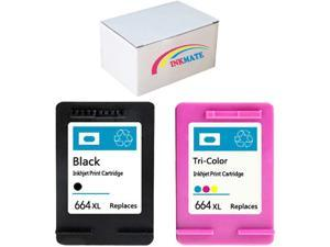 EVESKY INKMATE 2 Pack 664xl Ink Cartridge Replacement for 664XL Work with DeskJet Ink Advantage 1115 2136 3636 3836 4536 4676 All-in-One