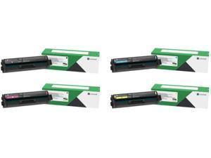 Lexmark C3210C0, C3210K0, C3210M0, C3210Y0 CMYK 4-Color Return Program Toner Cartridge Set for C3224, C3326, MC3224, MC3224, MC3326