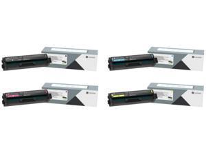 Lexmark C320010, C320020, C320030, C320040 CMYK 4-Color Toner Cartridge Set for C3224, MC3224
