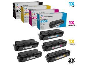 EVESKY LD Compatible Toner Cartridge Replacement for HP 410X High Yield (2 Black, 1 Cyan, 1 Magenta, 1 Yellow, 5-Pack)