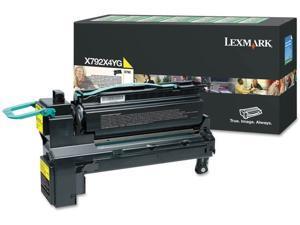 Lexmark Extra High Yield Yellow Return Program Toner Cartridge for US Government, 20000 Yield (X792X4YG)