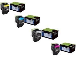 Lexmark CS410DN Toner Cartridge Set (OEM) Black. Cyan. Magenta. Yellow by Lexmark